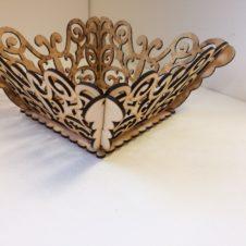 pillangós nagy kosár- butterfly- box-fa -wood