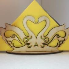 hattyús szalvétatartó- decor-swan napkin holder-teríték- esküvő