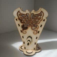 pillangós írószertartó- butterfly-pencil-box-fa- wood