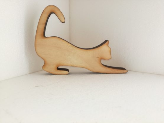 ajtó/ablaktámasztó cica-cat-fa-wood