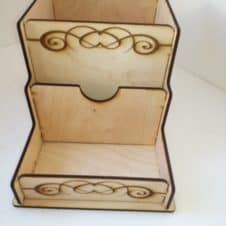 asztali rendező-írószertartó- minyon-mignon- pencil box-wood-fa-egyedi