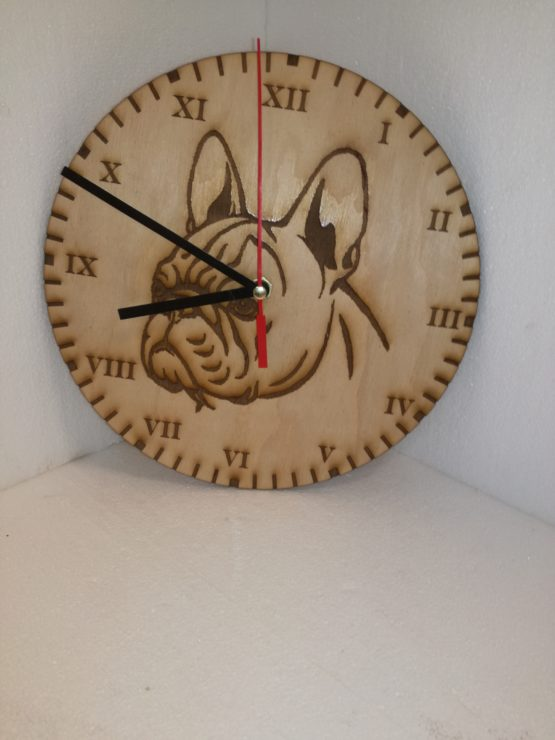 Francia bulldog óra- clock-bucis- buldog-bouledog- fr- time