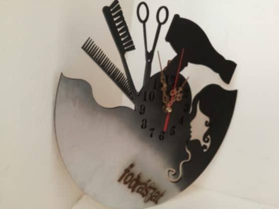 Óra-- fodrász- hairdresser's-egyedi- névre-ajándék