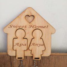 otthon-home-sweet-kulcstartó-puzzle- családi-neves-egyedi-különleges