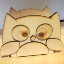 írószertartó-bagoly-owl- pencil box-fa-wood-ajándék-gift