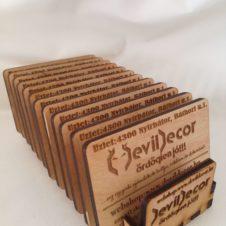 fa-névjegy-kártya-tartó-box